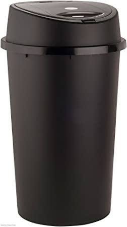 45 litros 45L papelera de basura de color para casa jardín oficina escuela cocina baño cubo de basura portátil cubo de basura con pedal tapa extraíble: Amazon.es: Hogar