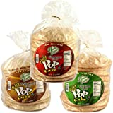 Health Express Puffy Pop Cakes- Assorted- Low Carb Low Calorie Healthy Snack, 3 Pack