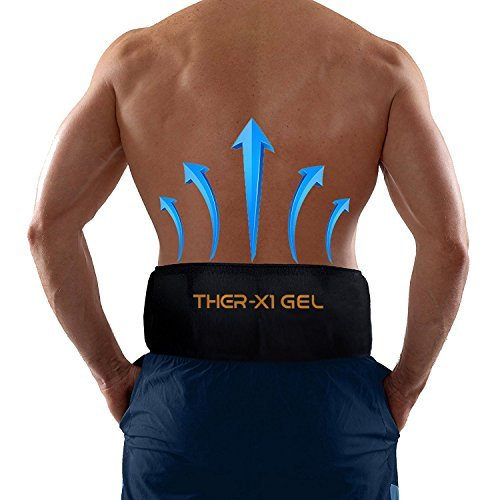 Back Pain Cold Reusable Ice Pack Belt Therapy For Lower Lumbar , Sciatic Nerve Pain Relief Degenerative Disc Disease Coccyx Tailbone Pain Reusable Gel Flexible Medical Grade Cold Back Wrap