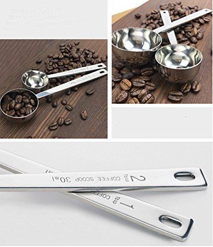 Antcher 15/ml//30/ml Coffee Scoop Edelstahl dicker Essl/öffel Messl/öffel K/üche Bar Tools
