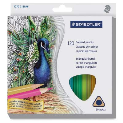 Staedtler Triangular Colored Pencils, Assorted Colors, Set of 120 by STAEDTLER