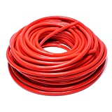 HPS 5/8'' ID Red high temp reinforced silicone heater hose 100 feet roll, Max Working Pressure 70 psi, Max Temperature Rating: 350F, Bend Radius: 3''