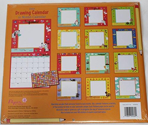 Children S Calendar With Stickers : Paper craft kids childrens month calendar with