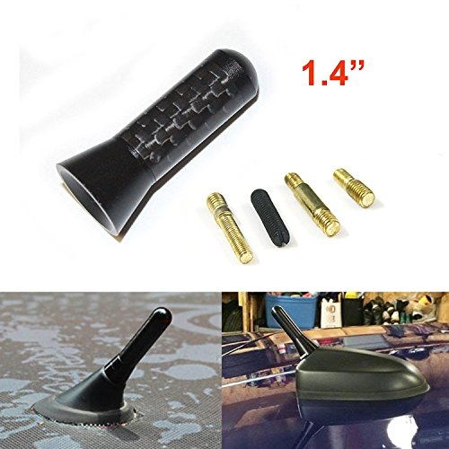 "1.4"" Black Carbon Fiber Screw In Radio Short Antenna For 2007-2015 Mini Cooper Countryman Paceman"