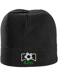Soccer Goal Embroidery Design Stretch Fleece Beanie