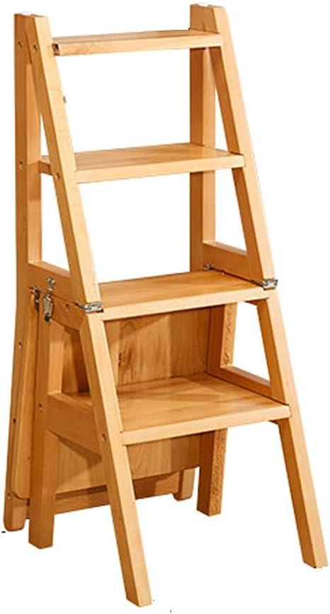 CAIJUN Silla De Escalera Plegable Escritorio De Madera Maciza De 1m Estantes Multi-Pasos Taburete laMadera Escalera (Tamaño : Ladder Chairs): Amazon.es: Hogar