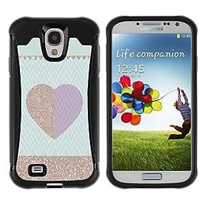 """Hypernova Defender Series TPU protection Cas Case Coque pour Samsung Galaxy S4 IV I9500 [Patrón púrpura del ciruelo del oro Chevron""""]"""
