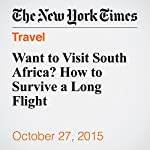Want to Visit South Africa? How to Survive a Long Flight | Justin Sablich