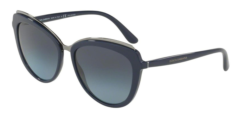 Amazon.com: Dolce & Gabbana DG4304 3119K4 Blue Cat Eye ...