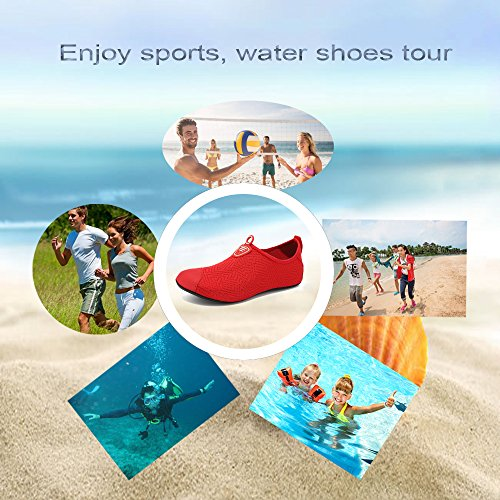 Rapide Swimming red amp; apnée DIERDI Flats Bt Surf séchage Running Plongée Water en Femme Pieds Nus Plongée à Shoes Beach Sports Soft Kid Homme Yoga vx6tqSxwU