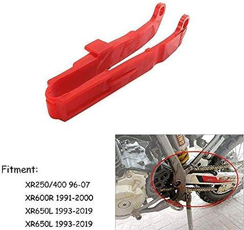 Nrpfell Motorrad Kunststoff Kunststoff Schieber F/ührung Schwingen Schutz f/ür Xr250R Xr400R Xr600R Xr650L 1991-2019 Schwarz