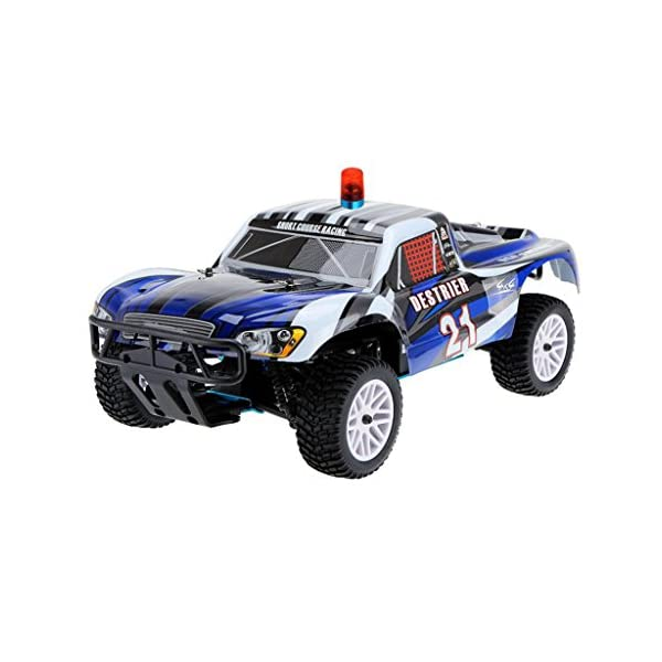 Sharplace Pack of 2 Univeral RC Truck Accessories Police LED