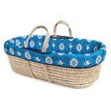 Tadpoles Moses Basket and Bedding Set, Blue Country Club