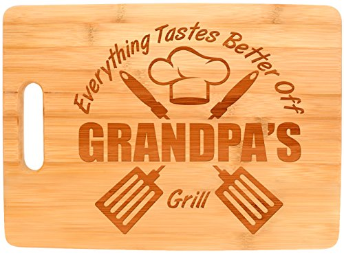 Laser Engraved Cutting Board Everything Tastes Better Off Grandpa