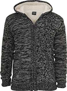 Urban Classics Inverno Knit Zip Hoody TB408 Black/Grey