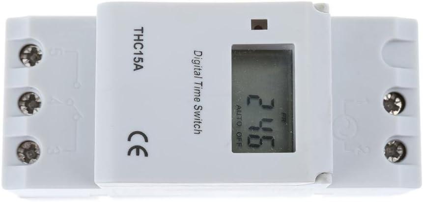 JUNERAIN Interrupteur /électronique Programmateur hebdomadaire programmable Interrupteur Minuteur Relais Num/érique 220 V