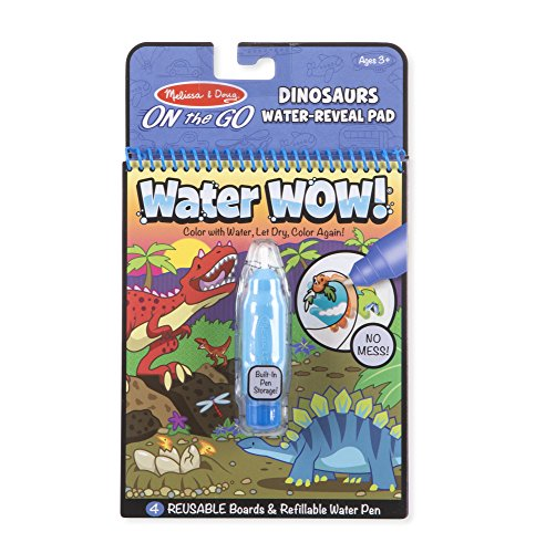 Melissa & Doug Water Wow! Dinosaurs Water-Reveal Pad – On The Go Travel Activity Book, Multicolor -