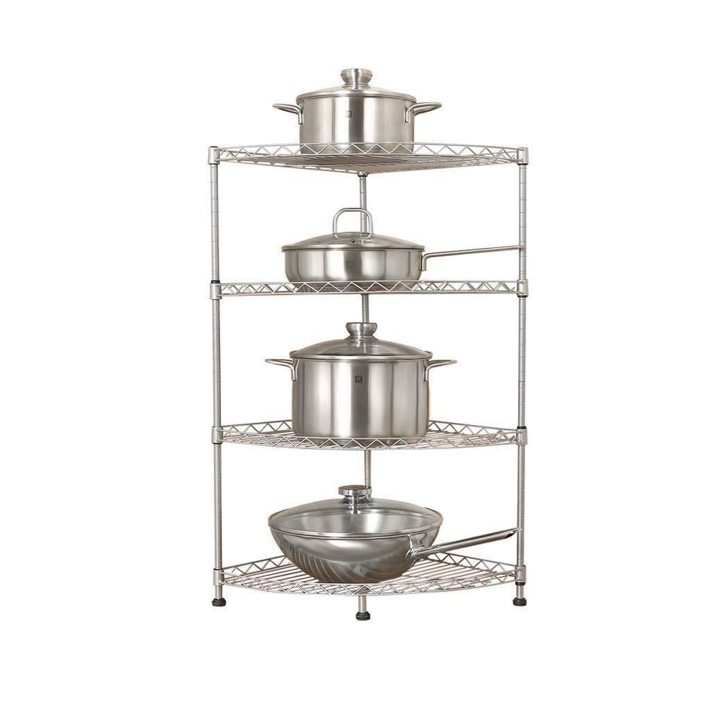 キッチン収納ラック - 電子レンジキッチンラック床多層オーブンポット皿ラック調味料収納棚収納ラック仕上げラック LJKHDF B07RNG5KTX