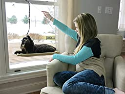 Alyson Marie Pet Supplies Window Mounted Cat Bed with Teaser Toy