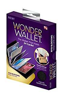 Wonder Wallet - Amazing Slim Genuine Leather Wallet w/ RFID Protection, As Seen On TV (B01M4GCNW1) | Amazon price tracker / tracking, Amazon price history charts, Amazon price watches, Amazon price drop alerts