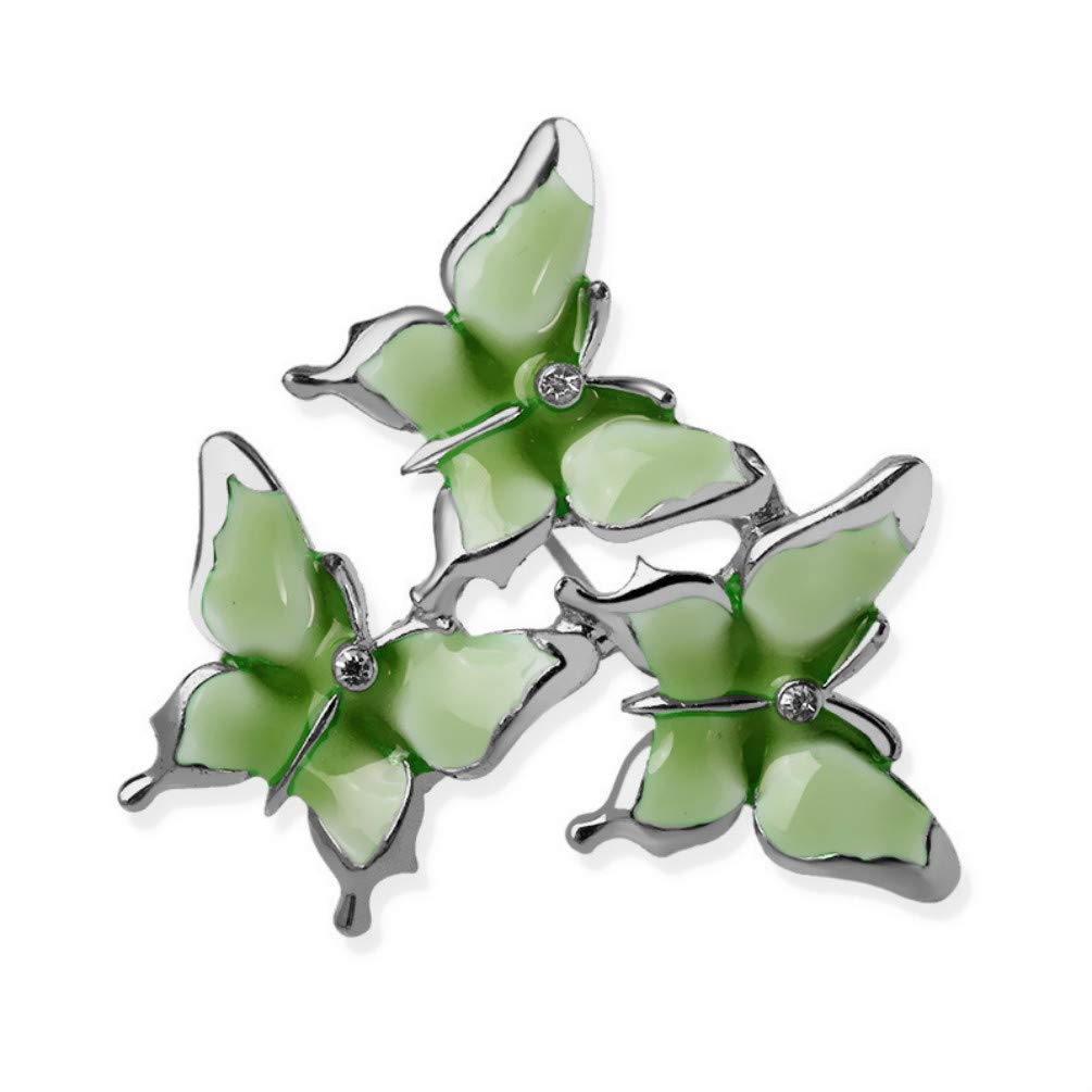 YYOGG Brooch Painted Three Butterfly Brooch Pin Clothing Shawl Accessories
