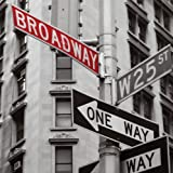 nexxt Shutter City Canvas Prints, NY Broadway, 12 by 12-Inch