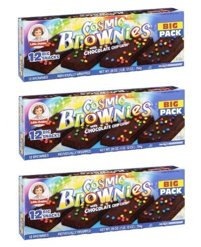 Little Debbie Cosmic Brownies with Chocolate Chip Candy Big Pack: 36 Individually Wrapped Packs by Little Debbie