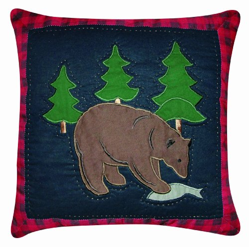 C&F Home Bear Quilted Pillow, 14 by 14-Inch -