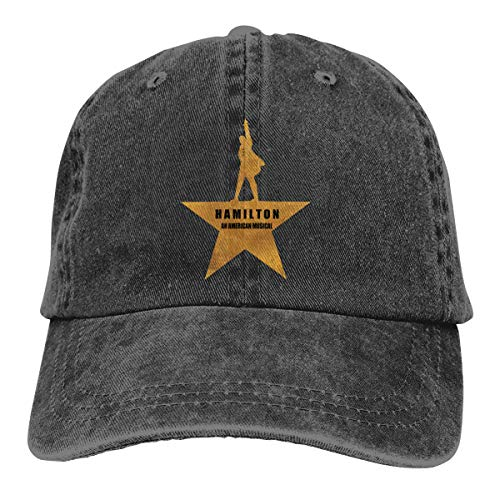 Eilli Hamilton an American Musical Fashion Classic Vintage Washed 100% Cotton Adjustable Baseball Cap Dad Hat Men Women Black