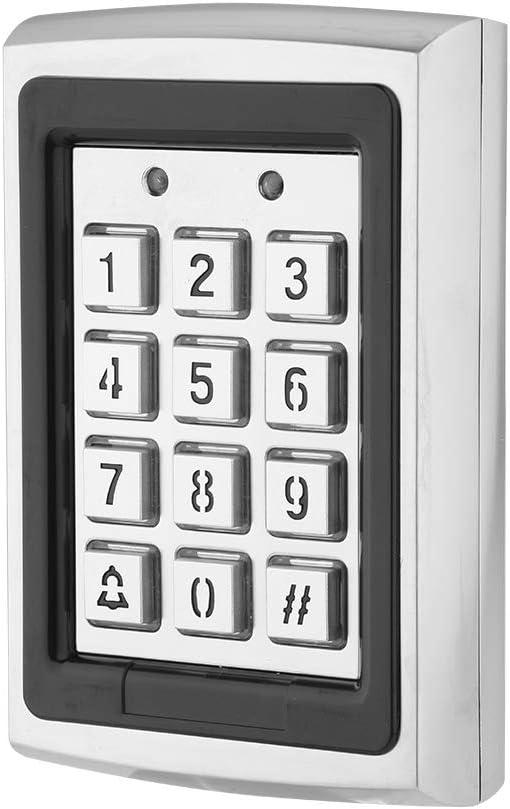 Bewinner - Teclado con control de tarjeta RFID, control de acceso de puerta con retroiluminación para el hogar, oficina, 1000 usuarios estándar