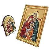 FengMicon Holy Family Frame Art Print Catholic Gift Christian Icon Set