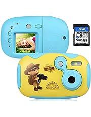 """AGM Cámara para Niños, Cámara de Video con Funda Carcasa de Silicon 1.44"""" HD Color Pantalla Digital Cámara Niños con Tarjeta de Memoria de 8GB para Chicas y Chicos"""