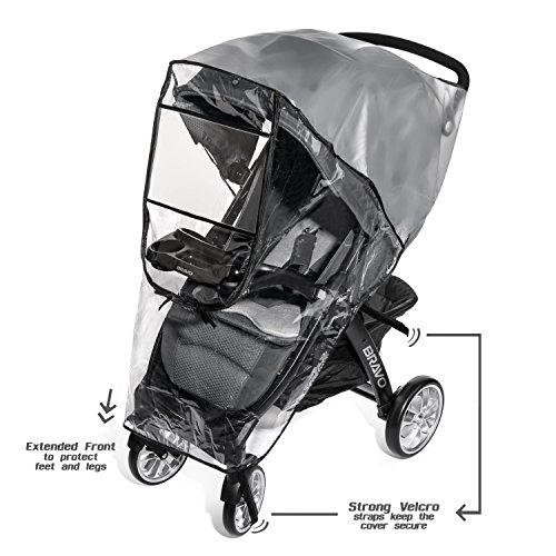 Weltru Premium Stroller Cover Weather Shield, Easy in/Out Zipper, Universal Size, Waterproof, Protects Against Wind, Rain, Snow, Insects by Weltru (Image #4)