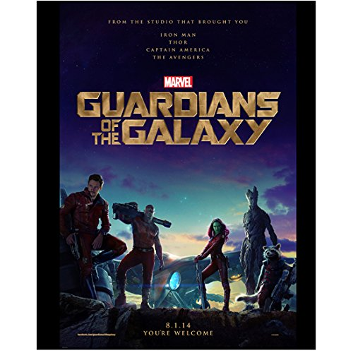 (Chris Pratt 11 inch x 14 inch Photograph Guardians of the Galaxy (2014) w/Cast Title Poster)