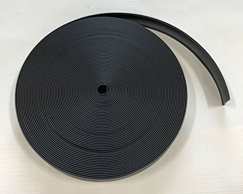 Triton 06111-BK 1 Inch Black Vinyl Trim Insert - 50 Foot Roll by Triton