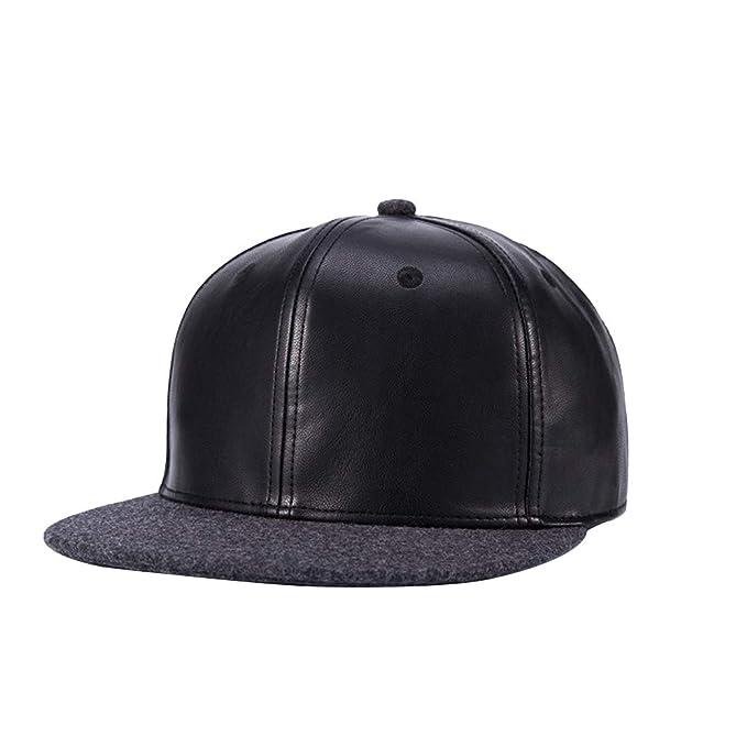fangkuai-hat Ajustable Gorras Planas Mujer Hombre Invierno Exterior Hip Hop Gorra de Béisbol, Negro A: Amazon.es: Ropa y accesorios