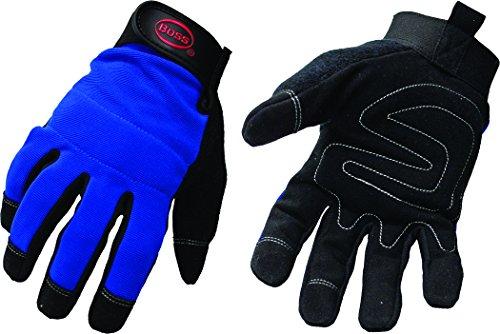 Price comparison product image Boss 5205L Blue Mechanic Glove,  Large