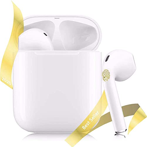 Wireless Earbuds Bluetooth 5.0 Headsets in-Ear Earphone 20H Music Bass 3D Stereo Sport Waterproof IPX5 Mic Headphone Handsfree Compatible with iOS Android