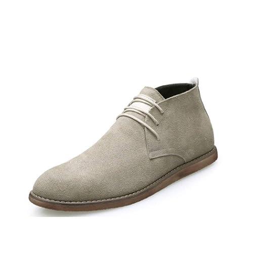 LYZGF, Zapatos De Hombre, Botas del Desierto, Botines, Gamuza, Fondo Plano, Moda, Botas Martin, Negocios, Casual: Amazon.es: Zapatos y complementos