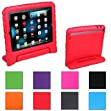 Aken Multi Function Child / Shock Proof Kids Cover Case with Stand / Handle for Apple iPad 2nd / 3rd / 4th Generation Tablet (iPad 2/3/4) (red)