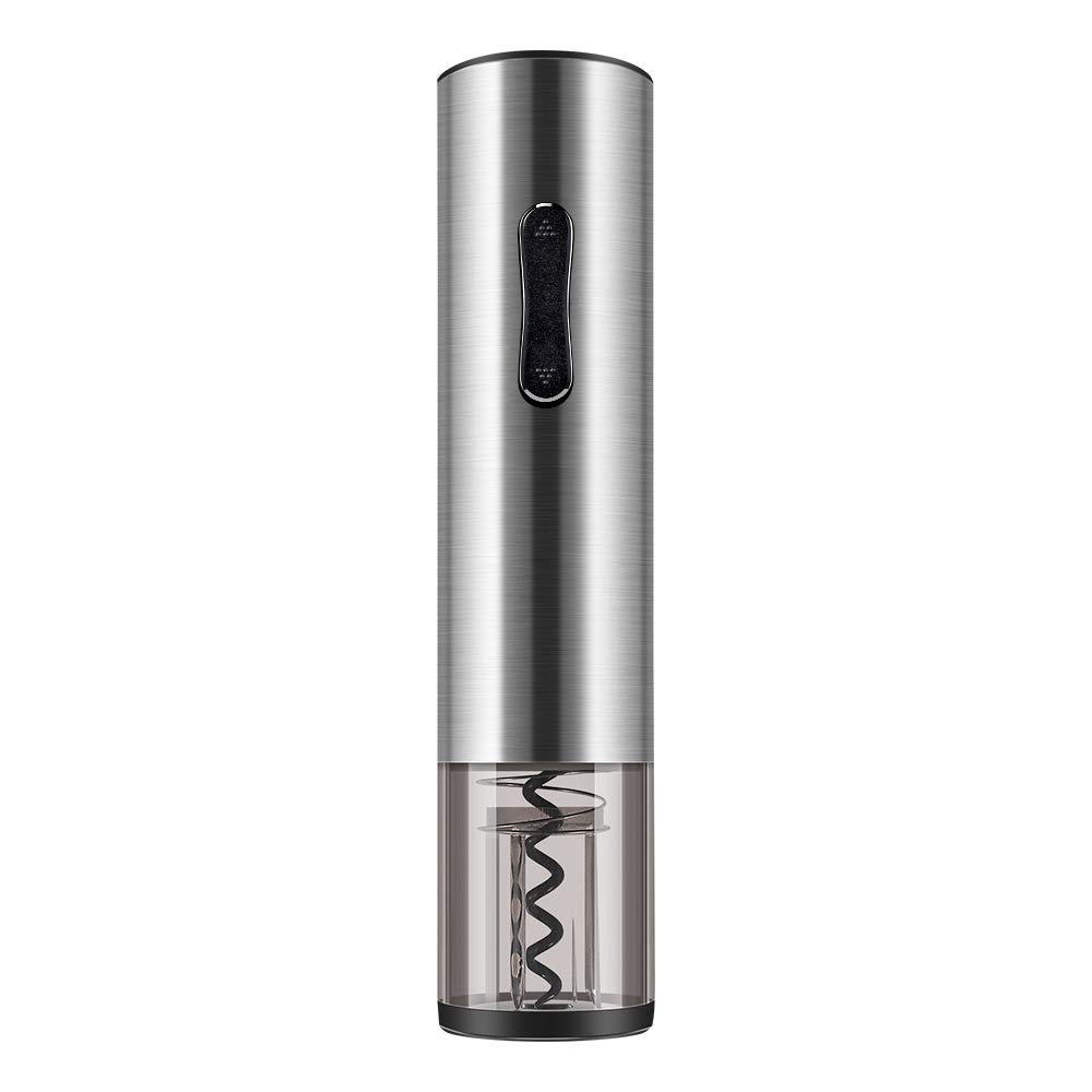 Pekyok Electric Wine Bottle Opener, DT03 Stainless Steel Rechargeable Cordless Automatic Corkscrew Wine Bottle Opener with Foil Cutter - Light Grey
