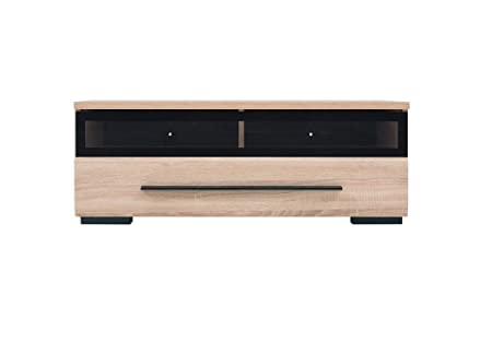 detailed look 9bd07 f0ef7 Fever - TV Cabinet With Glass Front TV Unit Stand (RTV1S3/10/S) - Sonoma  Oak 100cm wide
