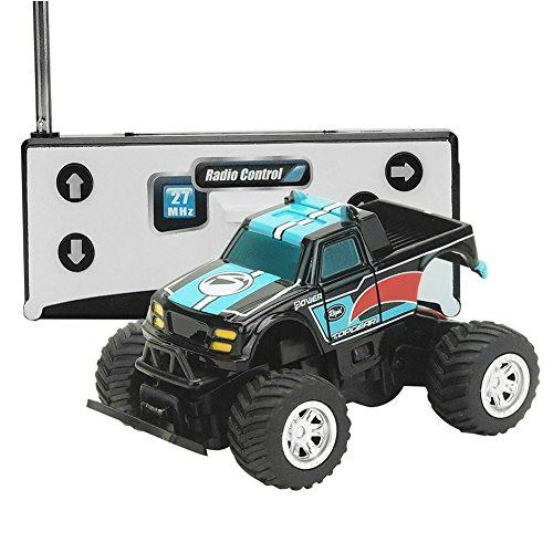 VGEBY Kids Toy RC Remote Control Car 27/40MHz for Children Brirthday (Color : Black+Blue)