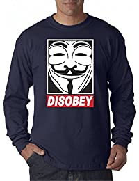 031 - Unisex Long-Sleeve T-Shirt Disobey V For Vendetta Anonymous Fawkes Mask