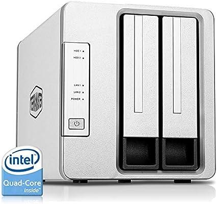 TerraMaster F2-421 Caja de Servidor NAS 2 bahías Intel Quad Core ...