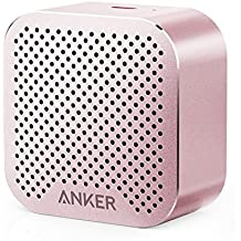 Anker SoundCore Nano Bluetooth Speaker Big Sound, Super-Portable Wireless Speaker Built-in Mic iPhone 7, iPad, Samsung, Nexus, HTC, Laptops More - Pink