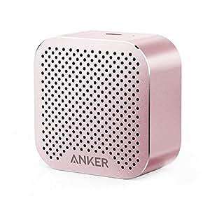 Anker SoundCore Nano Bluetooth Speaker Big Sound, Super-Portable Wireless Speaker Built-in Mic iPhone 7, iPad, Samsung, Nexus, HTC, Laptops More - Pink