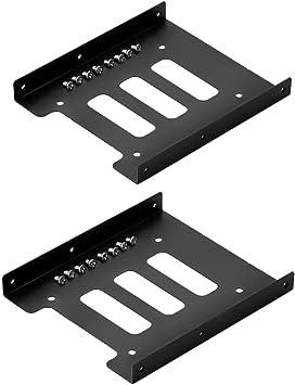 SIENOC 2 x 2.5 a 3.5 HDD / SSD Kit de montaje de metal ...