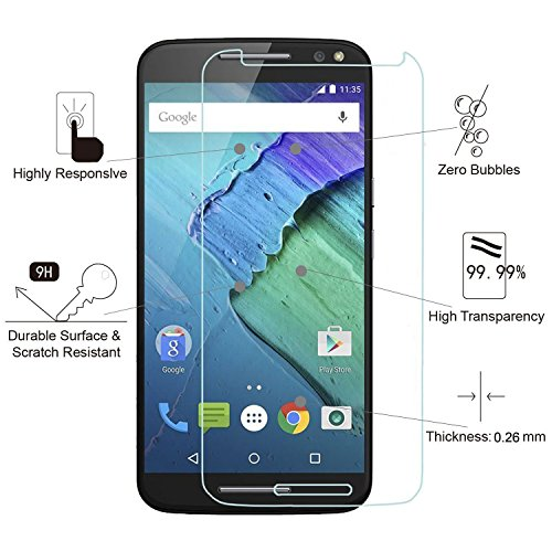 Moto X Pure Edition Screen Protector, SOOYO(TM) Tempered Glass Screen Protector (99% Clarity/Shatter-Proof/Bubble Free) for Motorola Moto X Pure Edition (2015) / X Style [Lifetime Warranty]-[3Pack]