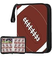 POKONBOY 648 Pockets Football Card Binder for Football Trading Cards, Display Case with Football ...